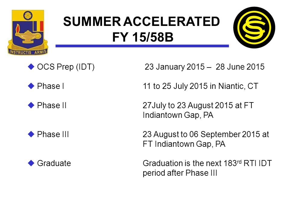 SUMMER ACCELERATED FY 15/58B