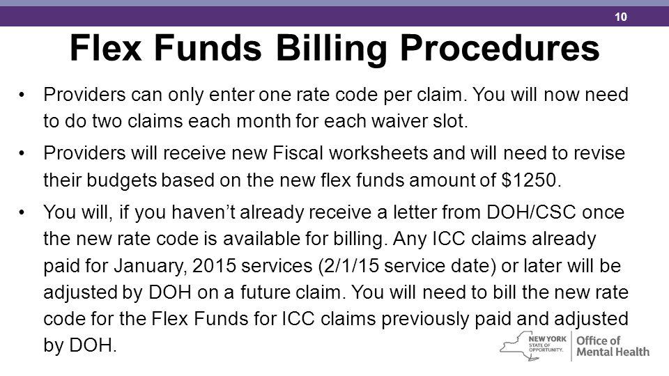 Flex Funds Billing Procedures