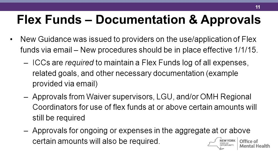 Flex Funds – Documentation & Approvals