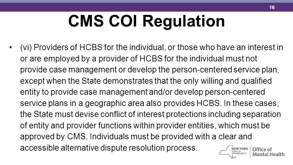 CMS COI Regulation