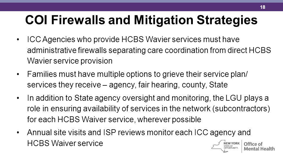COI Firewalls and Mitigation Strategies