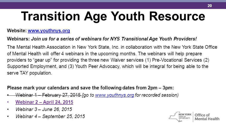 Transition Age Youth Resource