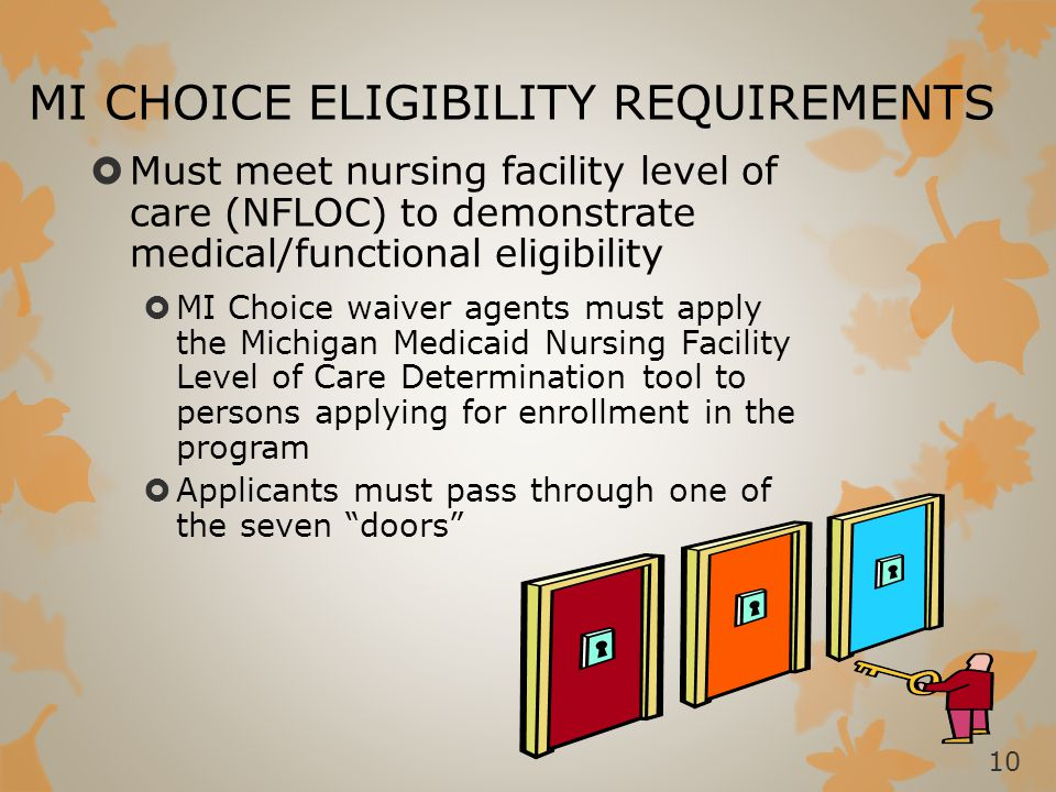 MI CHOICE ELIGIBILITY REQUIREMENTS