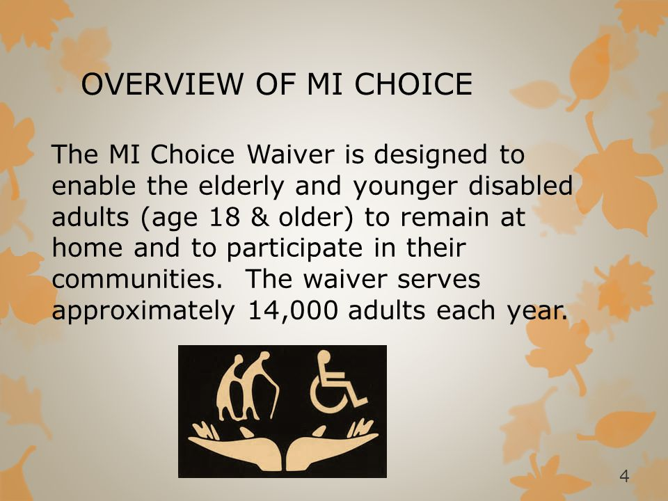 OVERVIEW OF MI CHOICE
