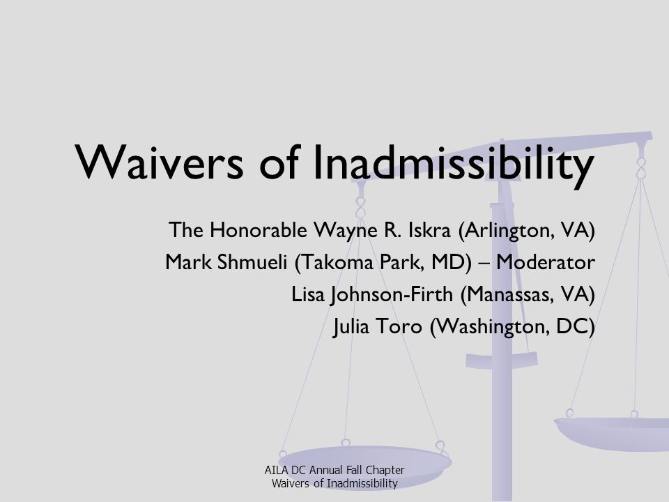 Waivers of Inadmissibility