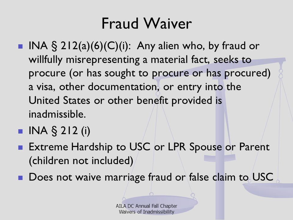 Fraud Waiver