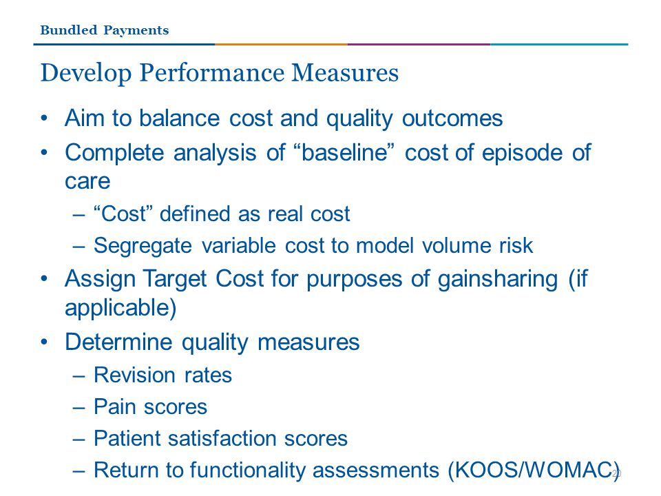 Develop Performance Measures
