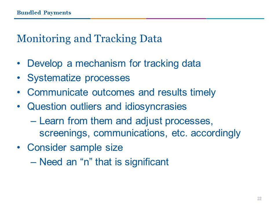 Monitoring and Tracking Data