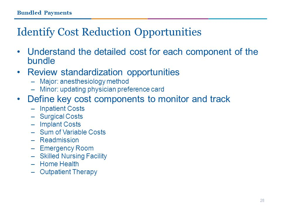 Identify Cost Reduction Opportunities