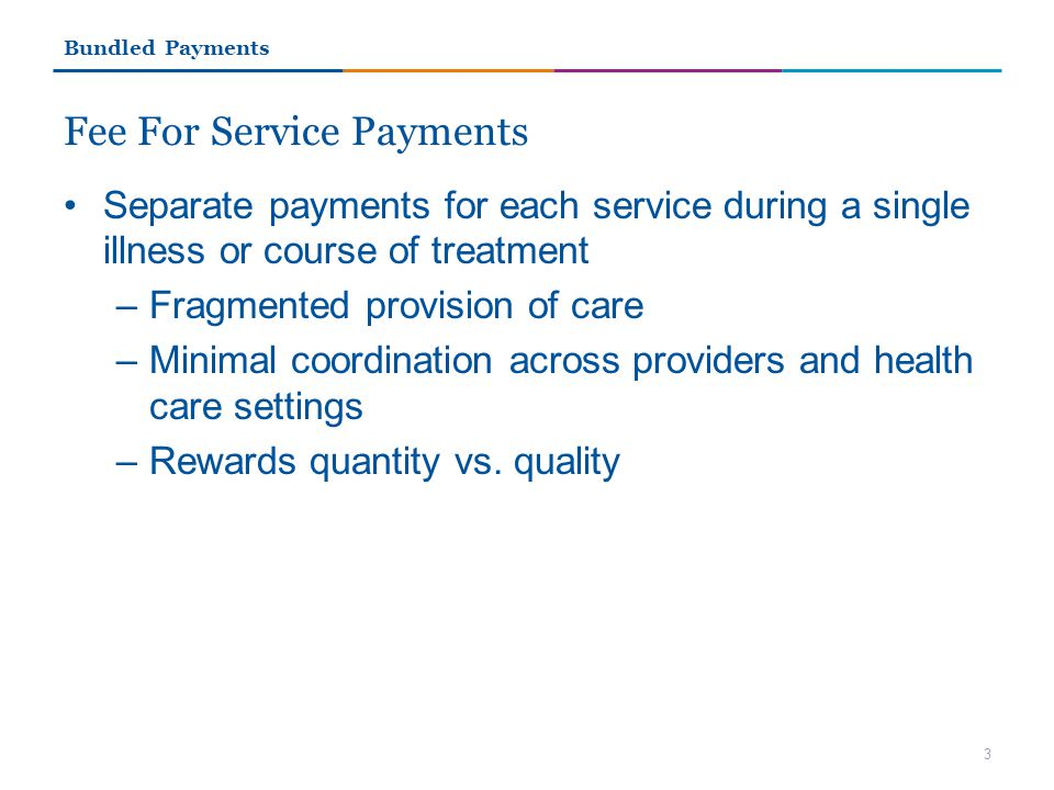 Fee For Service Payments