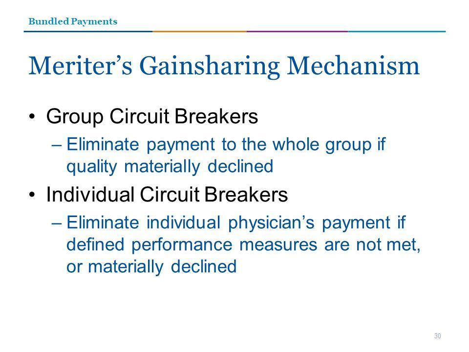 Meriter's Gainsharing Mechanism