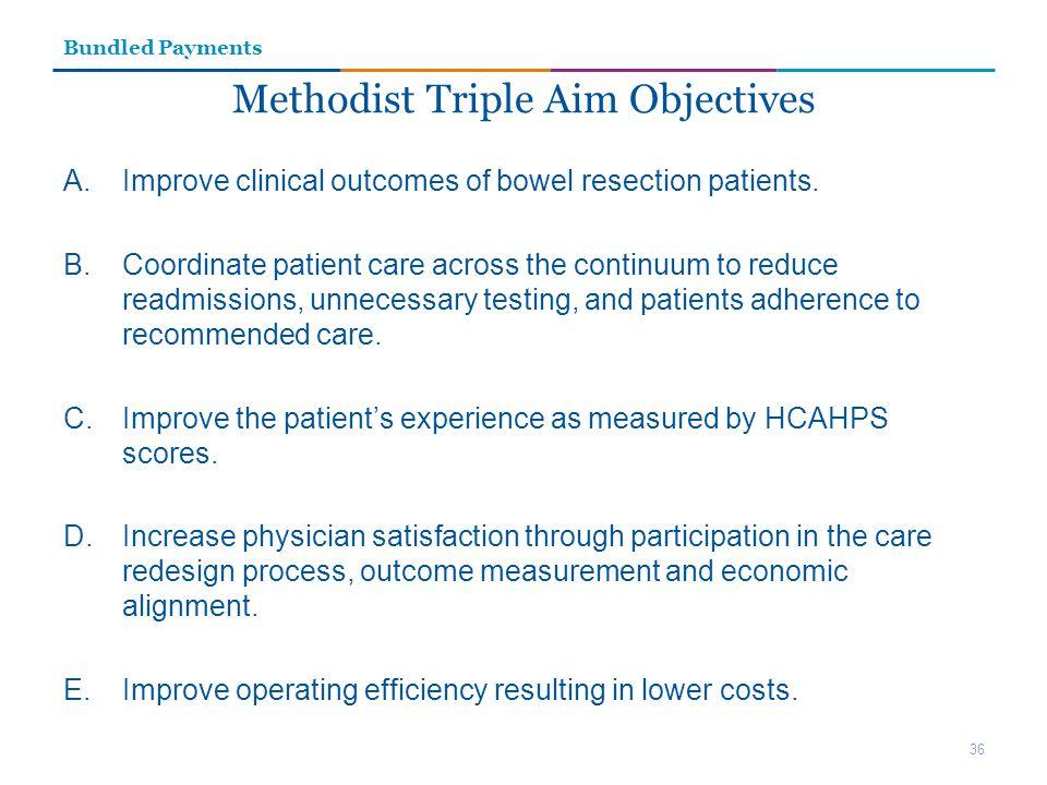 Methodist Triple Aim Objectives