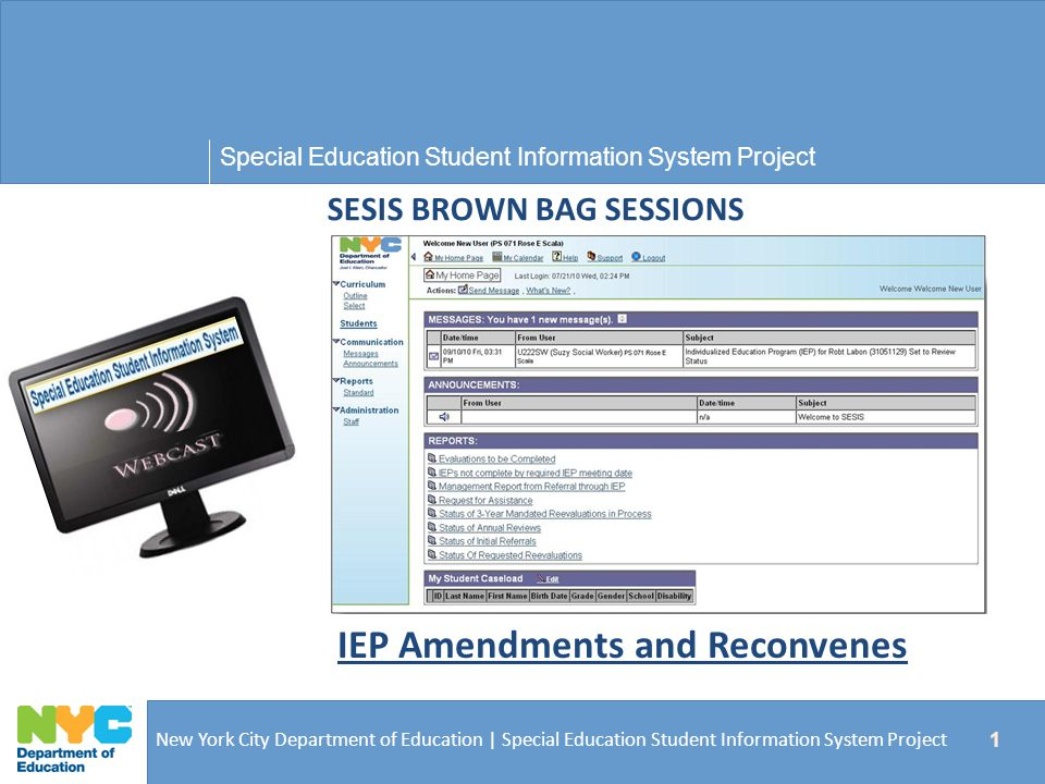 SESIS BROWN BAG SESSIONS