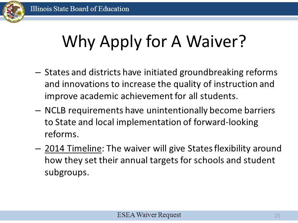 Why Apply for A Waiver