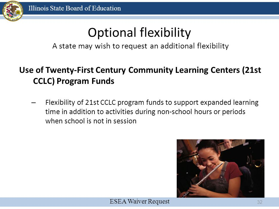 Optional flexibility A state may wish to request an additional flexibility