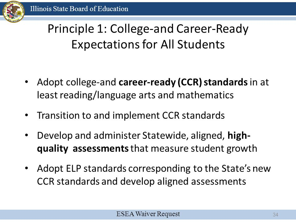 Principle 1: College-and Career-Ready Expectations for All Students