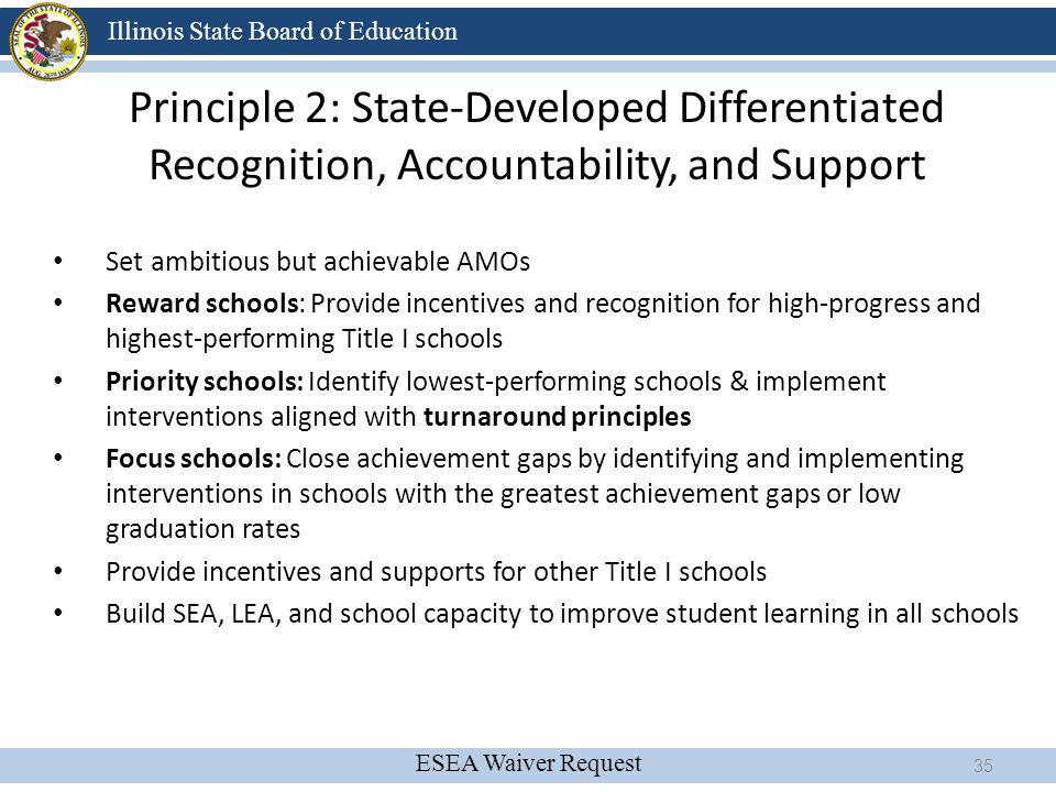 Principle 2: State-Developed Differentiated Recognition, Accountability, and Support