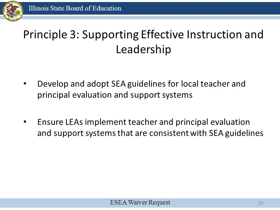 Principle 3: Supporting Effective Instruction and Leadership