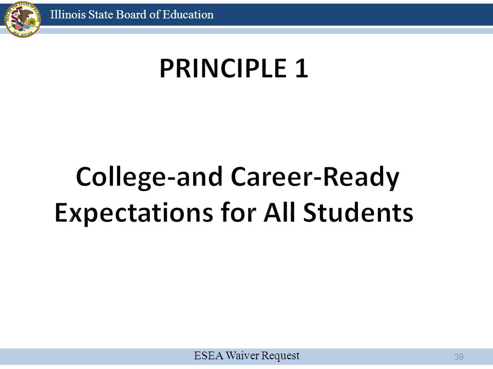 Principle 1 College-and Career-Ready Expectations for All Students