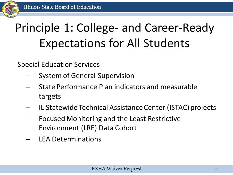 Principle 1: College- and Career-Ready Expectations for All Students