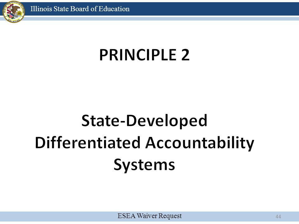 Principle 2 State-Developed Differentiated Accountability Systems