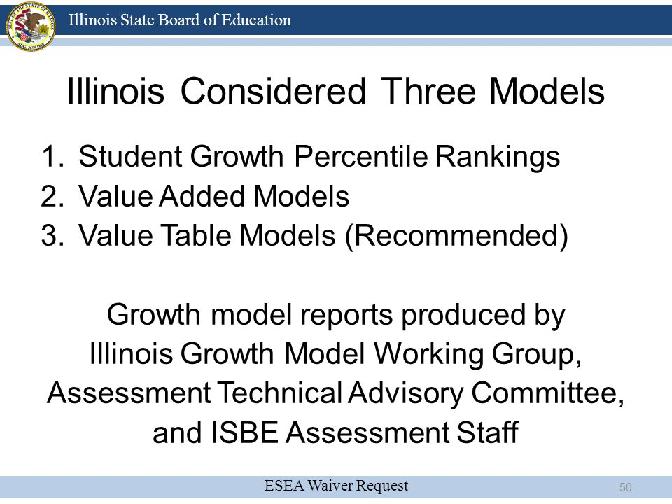Illinois Considered Three Models
