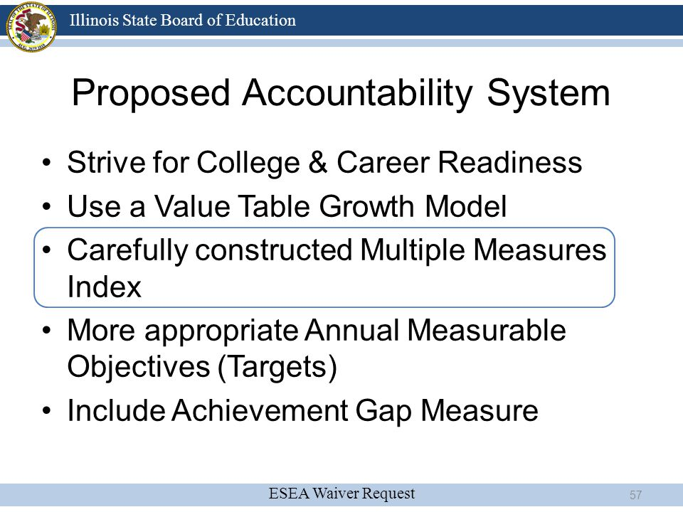 Proposed Accountability System