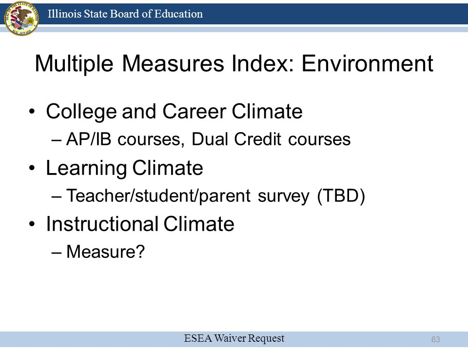Multiple Measures Index: Environment