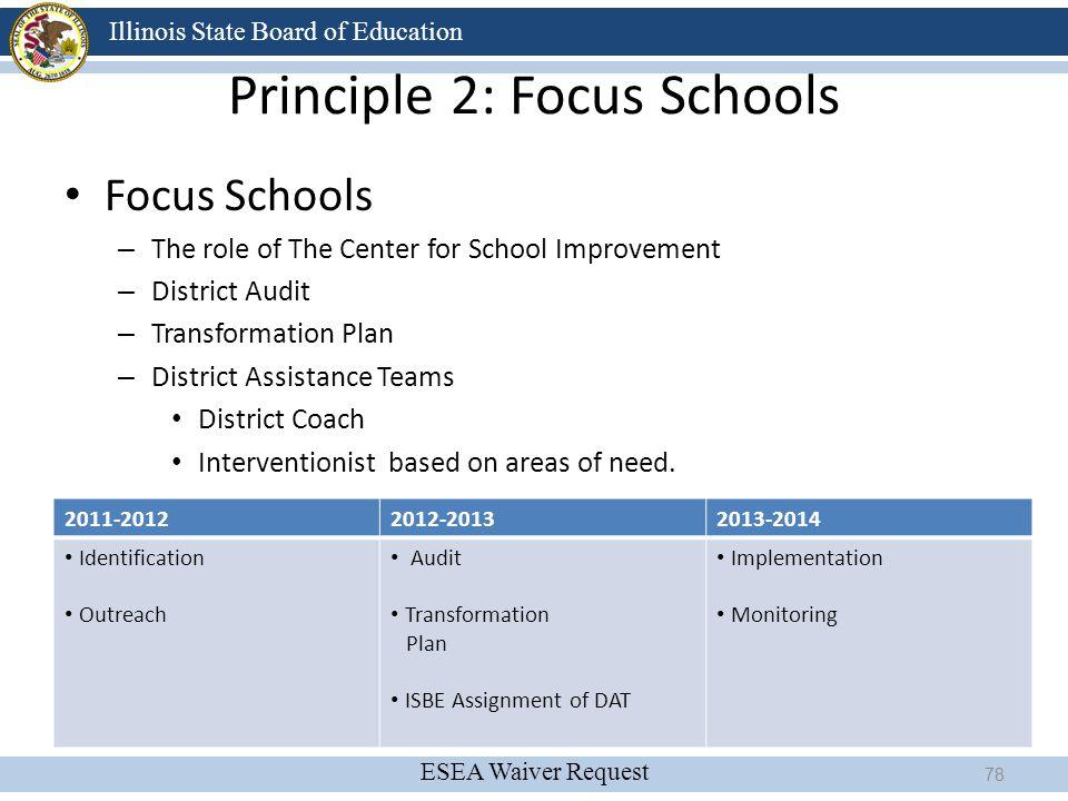 Principle 2: Focus Schools