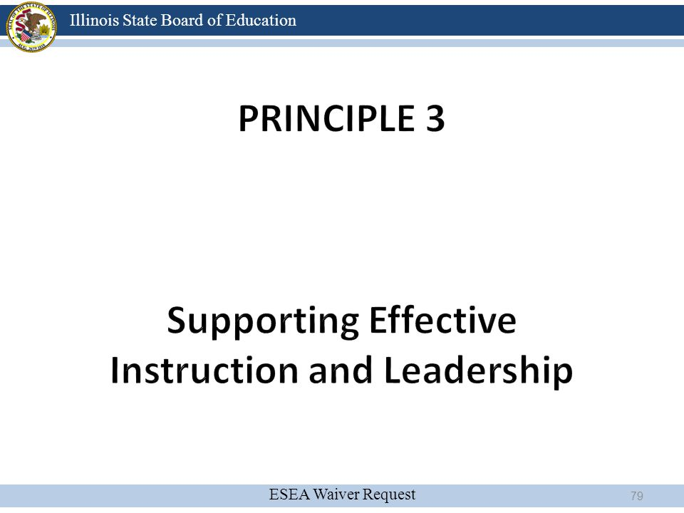 principle 3 Supporting Effective Instruction and Leadership
