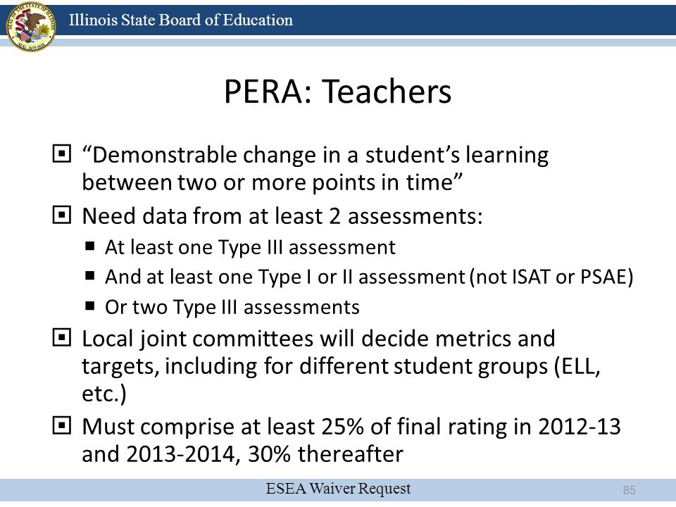 4/13/2017 PERA: Teachers. Demonstrable change in a student's learning between two or more points in time