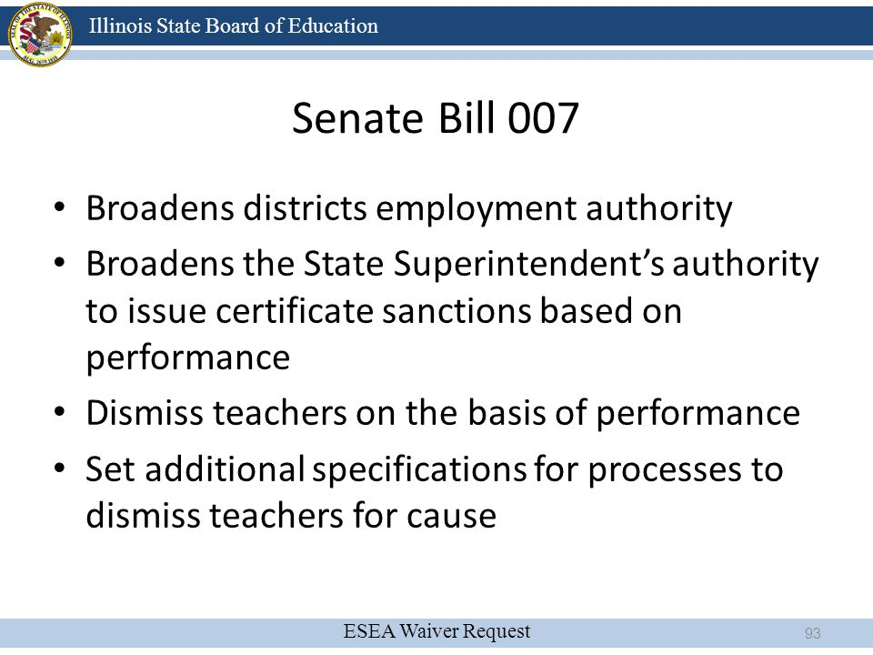 Senate Bill 007 Broadens districts employment authority