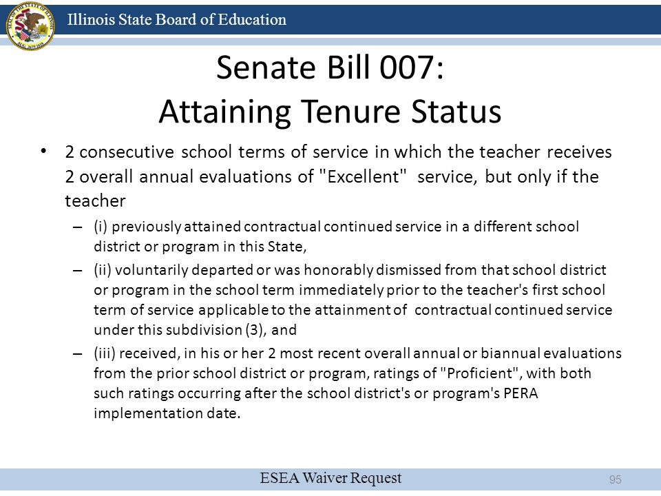 Senate Bill 007: Attaining Tenure Status