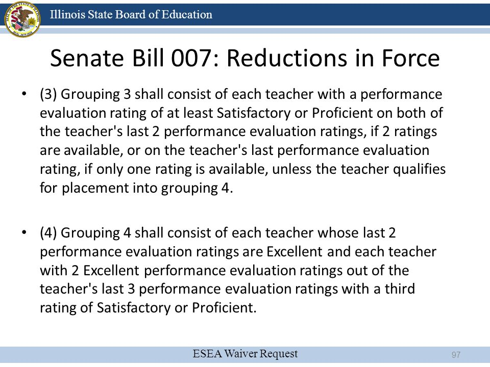 Senate Bill 007: Reductions in Force