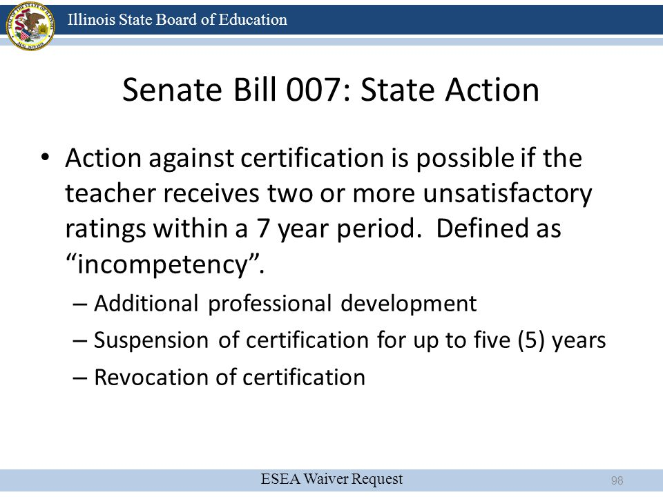 Senate Bill 007: State Action
