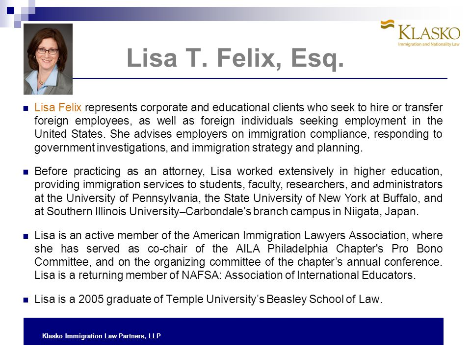 Lisa T. Felix, Esq.