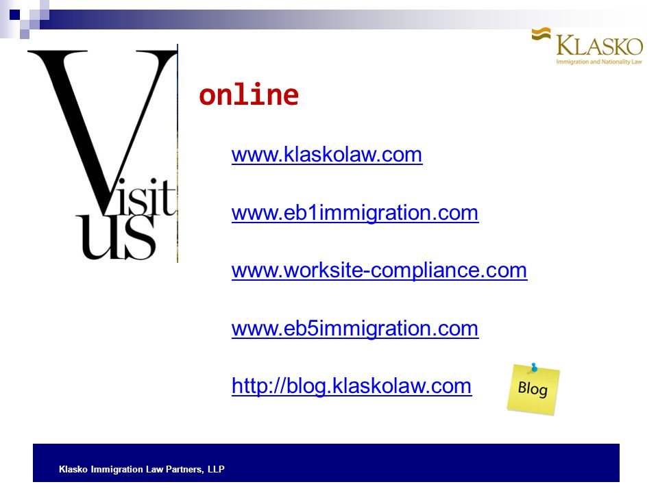online www.klaskolaw.com www.eb1immigration.com