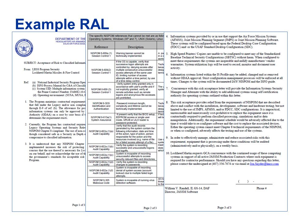 Example RAL