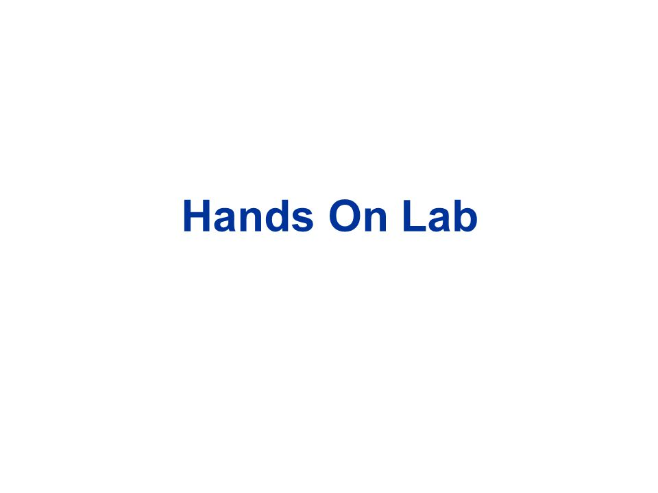 Hands On Lab