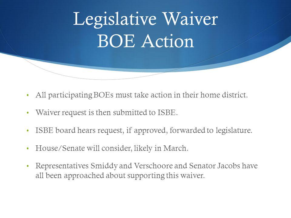 Legislative Waiver BOE Action