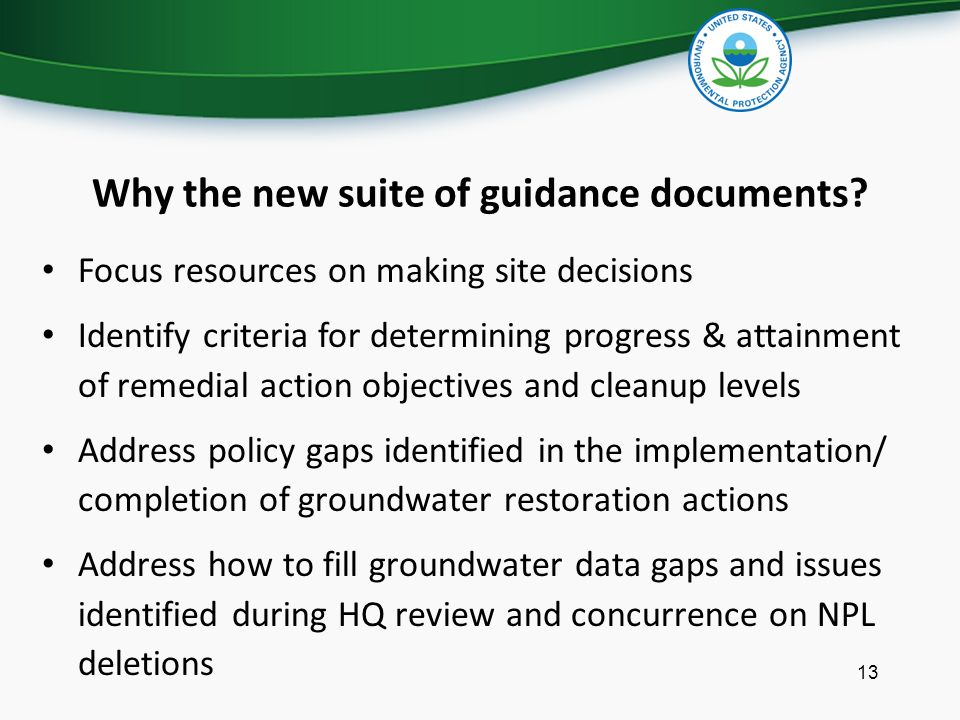 Why the new suite of guidance documents