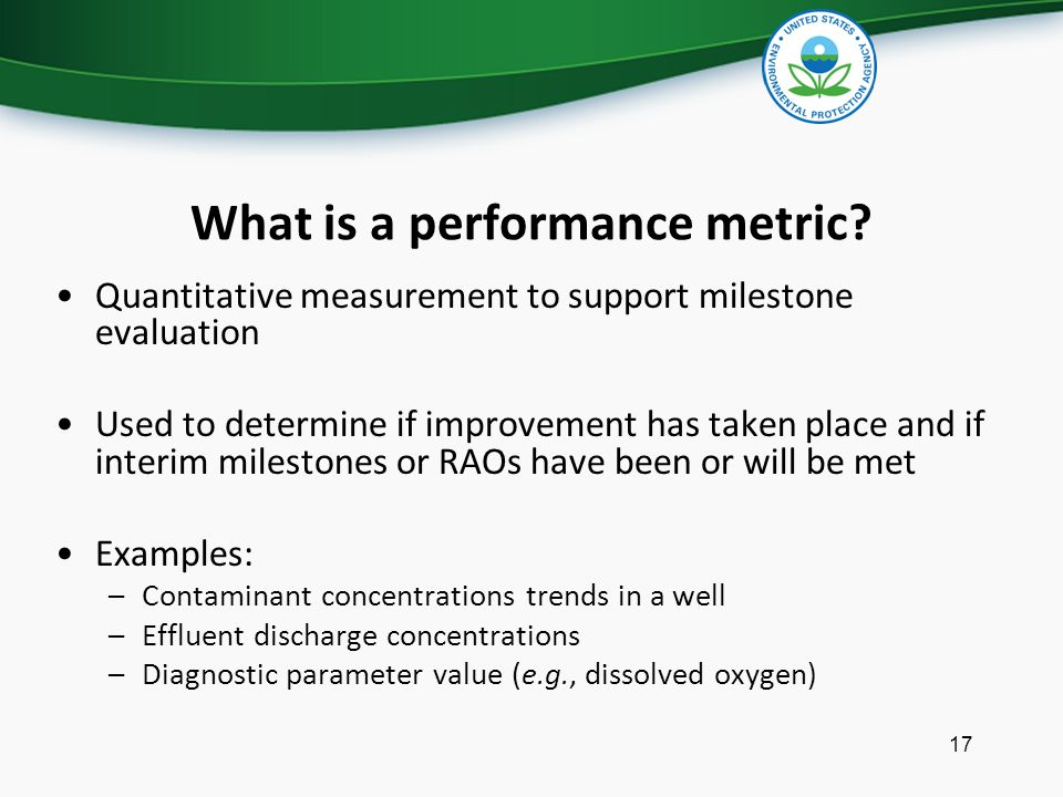 What is a performance metric