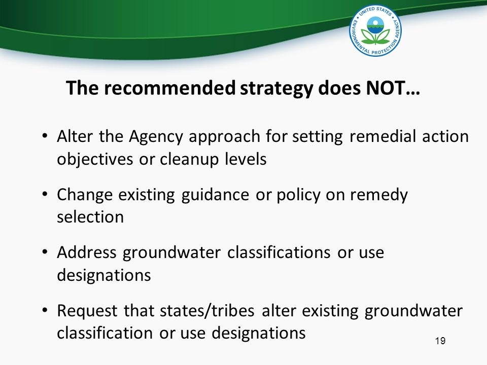 The recommended strategy does NOT…