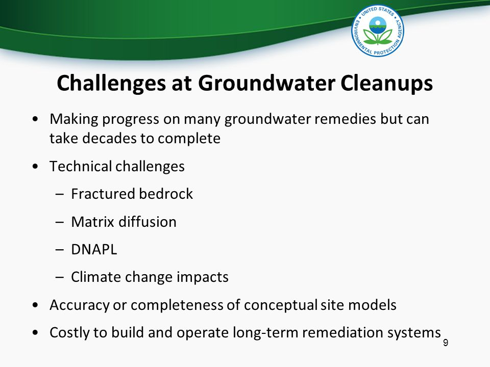 Challenges at Groundwater Cleanups