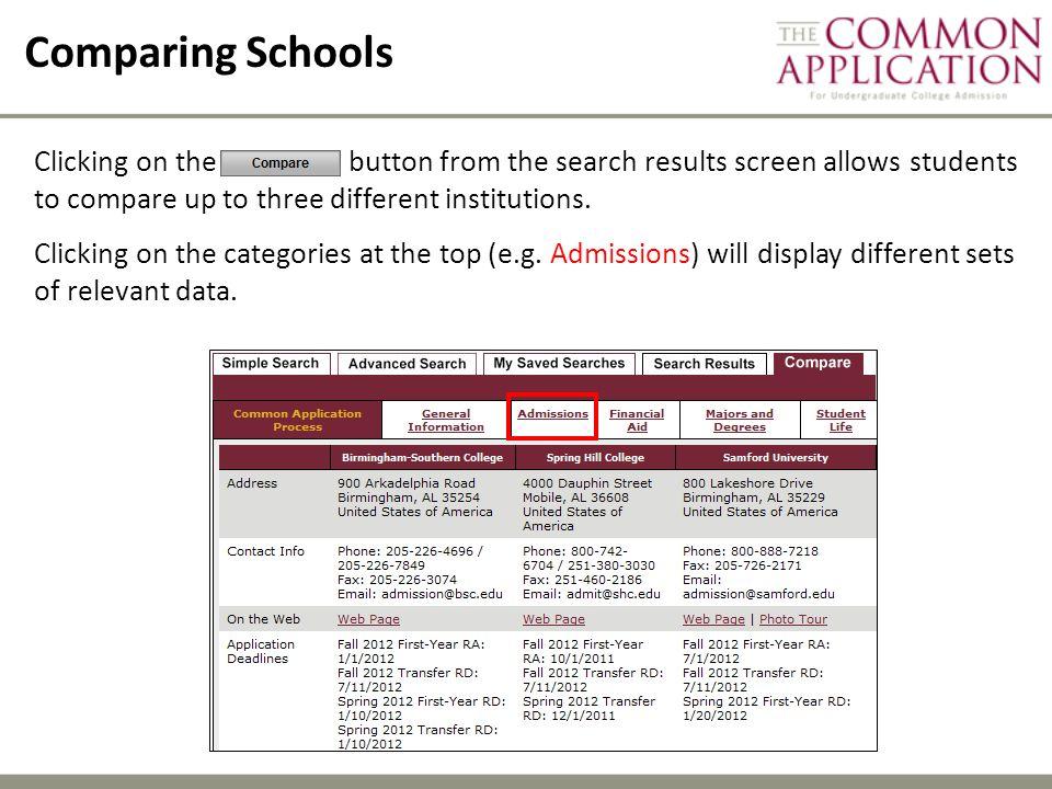Comparing Schools