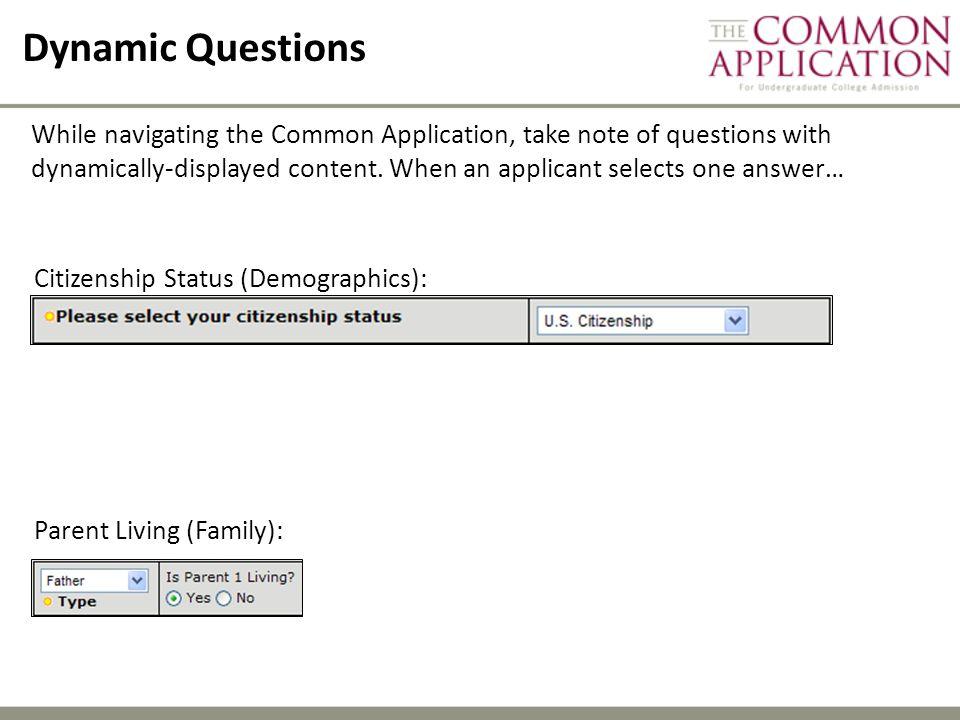 Dynamic Questions