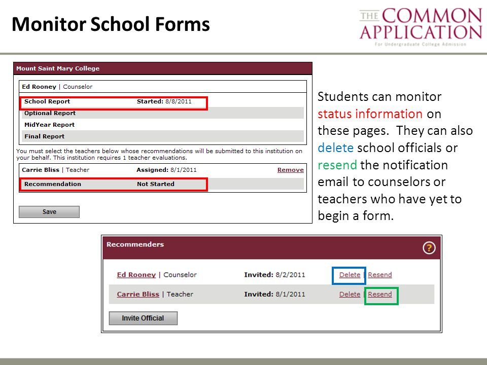 Monitor School Forms