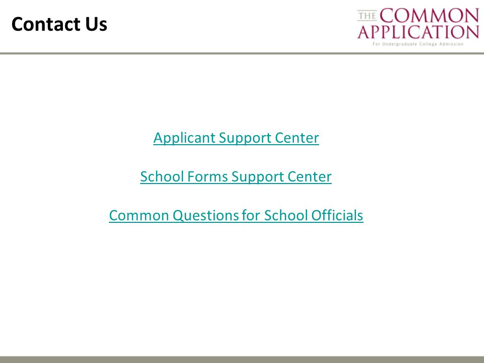 Contact Us Applicant Support Center School Forms Support Center