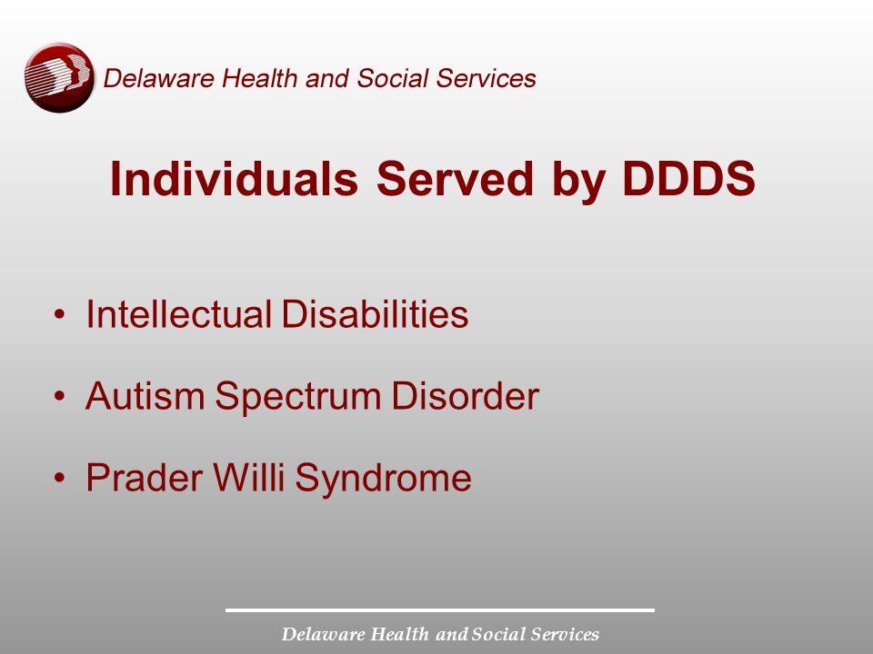 Individuals Served by DDDS