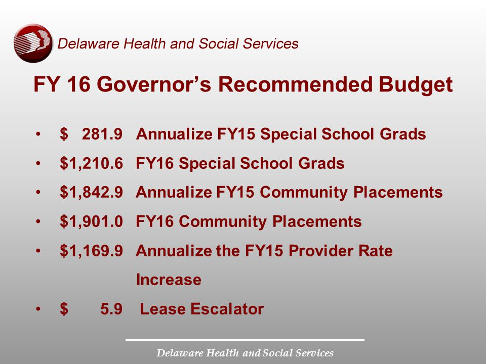 FY 16 Governor's Recommended Budget